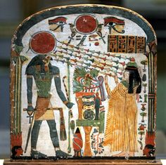 Stele of Lady Taperet, Third Intermediate Period, 22nd Dynasty, 10th or 9th century BC, painted wood.