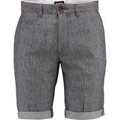 Grey Denim Look Shorts