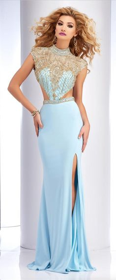 SHOP HERE: http://www.prom-avenue.com/clarisse-2725-beaded-prom-gown/ Dreamy and glamorous beaded dress from Clarisse 2725 #glamour #glamourous #promavenue #prom #pageant #pageantdress