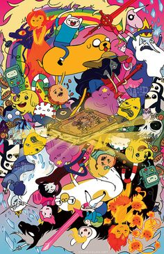 Adventure Time Reversible Poster 11x17 by SquidSaladShop on Etsy, $10.00