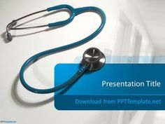 This is a cardiology design with a stethoscope and a red heart free stethoscope powerpoint template is a free presentation design and background for doctors and healthcare professionals toneelgroepblik Choice Image