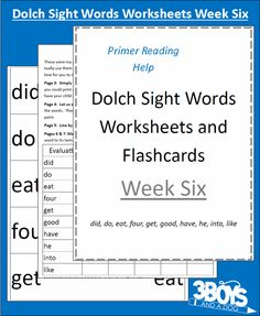 Check out the newest post (Dolch Sight Words Worksheets:  Week 6) on 3 Boys and a Dog at http://3boysandadog.com/2014/02/dolch-sight-words-worksheets-week-6/?Dolch+Sight+Words+Worksheets%3A++Week+6