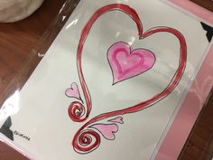 A Valentine's Day Card in our shop my local artist Nan Henke