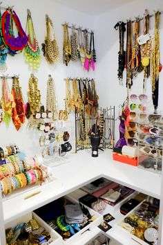 Dream accessory closet. Man you have a lot of stuff.