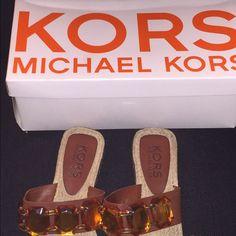KORS Michael Kors Sandals KORS Ringo Sandal size 7.5 in excellent condition with box. KORS Michael Kors Shoes Sandals