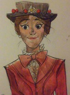 Love this art work Mary Poppins, Disney Dream, Disney Love, Disney Magic, Disney Films, Disney And Dreamworks, Disney Pixar, Disney Sketches, Disney Drawings