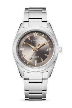 Klassisch und elegant zugleich ist diese Citizen Damenuhr, die mit einem Eco-Drive Uhrwerk angetrieben wird. Citizen Eco, Lady, Michael Kors Watch, Omega Watch, Rolex Watches, Bracelet Watch, Accessories, Taupe, Mood