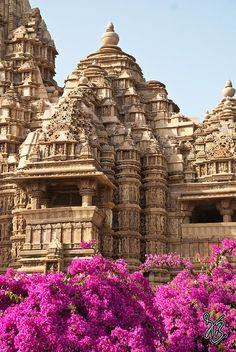Temple in Khajuraho, Madhya Pradesh, India.