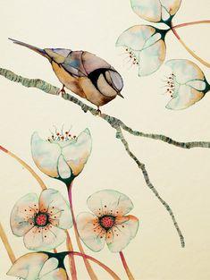 Watercolor Bird, Watercolor Paintings, Watercolors, Watercolor Tattoo, Painting & Drawing, Painting Tattoo, Vogel Illustration, Sheffield Art, Art Japonais