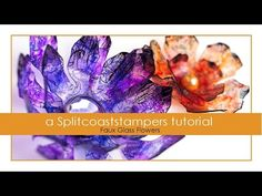 Faux Glass Flowers - YouTube