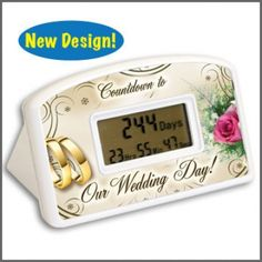 ON SALE!! Bridal Shower Gifts Wedding Countdown Clock $8.95