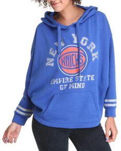 New York Knicks Oversized 3/4 Sleeve Hoodie