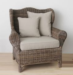 RATTAN WING CHAIRNaturallycane |Rattan and Wicker Furniture Australia