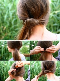 I remember thinking this was the ultimate in 'fancy' hairstyles last time I had Long Hair (so.) who new pulling it to the side could take it out of the play-ground? Ponytail Hairstyles Tutorial, Pony Hairstyles, Side Swept Hairstyles, Quick Hairstyles, Easy Hairstyle, Wedding Hairstyles, Side Ponytails, Ponytail Styles, Short Hair Styles