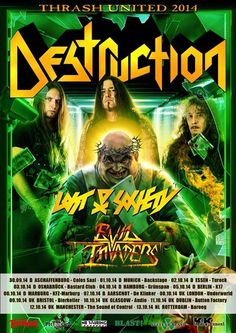 """awesome DESTRUCTION – announce European """"Best of … Valencia, Destruction, Musical, Glasgow, Bristol, Heavy Metal, Comic Books, Awesome, Movie Posters"""