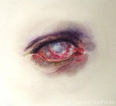 Zombie Undead Eye Macabre Art Horror Watercolour IllustrationYou can find Zombie art and more on our website. Gothic Artwork, Halloween Zombie, Zombie Art, Creepy Eyes, Creepy Art, Arte Horror, Horror Art, Art Sketches, Art Drawings