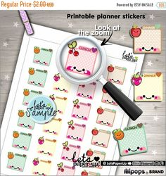 60%OFF - Meal Planner Stickers, Printable Planner Stickers, Food Stickers, Box Stickers, Erin Condren, Kawaii Stickers, Planner Accessories,