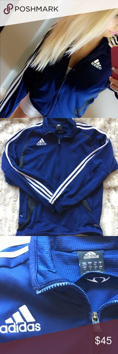 Vintage Adidas Royal Blur Zip Up Jacket Truly one of my favorite pieces. Pre loved in Mint Condition. Oversized rare brand named finds are jam so this is a men's size small. 😍I hope it's new owner will adore it xoxo adidas Jackets & Coats