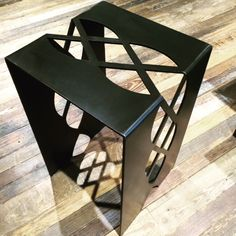 Custom Metal Table by Chad Martin Iron Furniture, Steel Furniture, Home Decor Furniture, Furniture Design, Metal Sheet Design, Sheet Metal Art, Steel Image, Patterned Furniture, Metal Accent Table