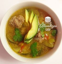 Paleo Albondigas (Meatball Soup), easy and delicious (and freezes well for leftovers!) - paleocupboard.com