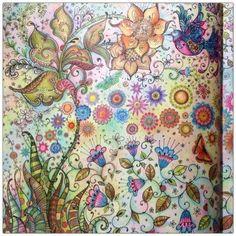 The Secret Garden, Johanna Basford Secret Garden, Secret Garden Coloring Book, Johanna Basford Coloring Book, Colouring Techniques, Coloured Pencils, Motif Floral, Coloring Book Pages, Copics