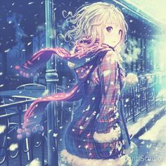 anime girl tumblr winter!!!
