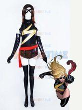 Ms. Marvel super herói Marvel Hreo de preto e ouro metálico brilhante Costume halloween Costume //Price: $US $43.88 & FREE Shipping //    #homemformiga #marvel