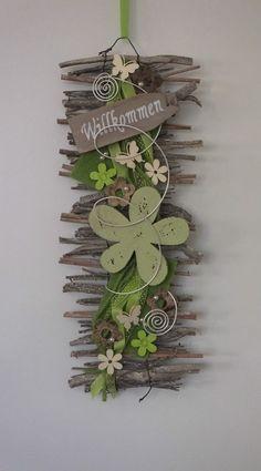 Türkranz, Türschmuck, Willkommen, Wandbehang, Filz, Blume, Frühling  in Möbel & Wohnen, Dekoration, Außen- & Türdekoration | eBay!