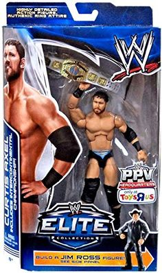 Mattel WWE Wrestling Exclusive Elite Collection Pay Per View Action Figure Curtis Axel [Jim Ross Build a Figure!]