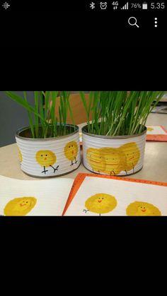 Halloween, Easter Crafts, Planter Pots, Jar, Arts Plastiques, Kid, Kids, Jars, Glass