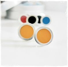 Contemporary Sterling Silver and resin filled 10mm Circle Studs by rmdjewellery on Etsy - $38 USD Handmade Jewellery, Unique Jewelry, Handmade Gifts, Sterling Silver Jewelry, Studs, Resin, Contemporary, Etsy, Color