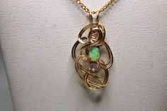 Lab Created Oval Opal Designer Pendant With by SteinGemJewelry, $74.95