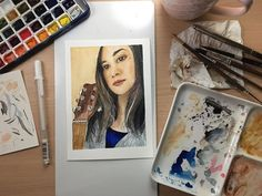 Polaroid Film, Watercolor, Eyes, Artist, Instagram, Pen And Wash, Watercolor Painting, Artists, Watercolour