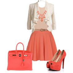 """Coral Outfit"" by natihasi on Polyvore"