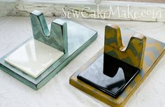 Painted Hot Glue Gun Stand by TheBubbleBox on Etsy