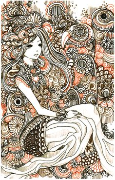 forest critters by koyamori on DeviantArt Artist Inspiration, Art Drawings, Drawings, Amazing Art, Doodle Art, Face Artwork, Beautiful Drawings, Art, Zentangle Art