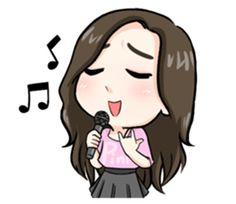 Cutie pinky Girl - Stickers de los Creators