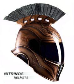 Spartan Helmet Orange and Charcoal