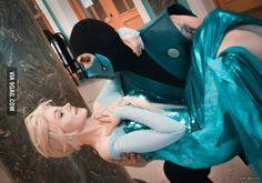 Elsa and subzero......yooooooo people will ship anything XD