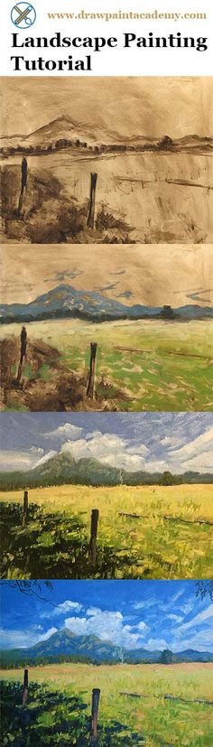 Check out this landscape painting tutorial of Mt Barney, Australia. via @drawpaintacadem