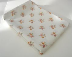 Retro Floral Pillow Case 1970s Orange and by RaggleTaggleHawker, £7.49