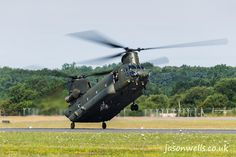 RAF Chinook slows to land.  See the rest of my aviation images in full size by clicking on the thumbnail.  They are also available to buy in a variety for formats or as a digital download without the watermark. #riat #riat2014 #aviation