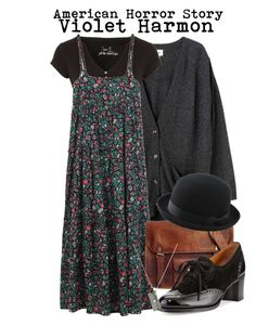 A fashion look from January 2016 featuring long floral dresses, stripe top and henley tee. Browse and shop related looks. Grunge Outfits, Hippie Outfits, Teen Fashion Outfits, Fall Outfits, Grunge Fashion, Casual Outfits, Pretty Outfits, Casual Goth, Fashion Women