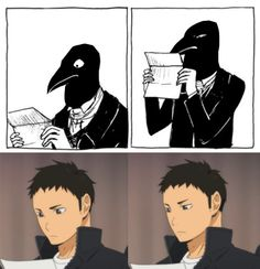 I haven't seen this anime (Haikyuu...? I dunno SORRY OK) but this is hilarious XD