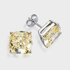 7 0 Ct Each Cushion Cut 14k Stud Earring High Quality Cubic Zirconia Earrings