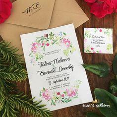 Svatební oznámení ~Natural Flower~ Originálne krásne jednovrstvové prírodné svadobné oznámenie s jemným kvetinovým vzorom v pastelových farbách. Rozmer oznámenia je 105 x 148 mm. Použitý papier je recyklovaný obsahuje drobné trblietky a vylisované kúsky kvetov, gramáž 260 g. Vodeodolná farebná potlač. V prípade záujmu Vám pošleme vzorku svadobného oznámenia (za cenu...