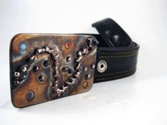 Distant Galaxy Belt Buckle  Welded Stainless by RhythmicMetal, $60.00