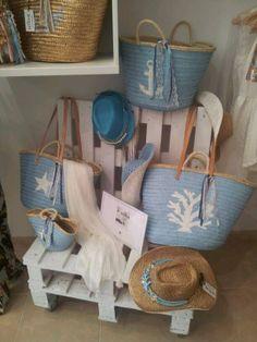#palet deco straw basket hand basket