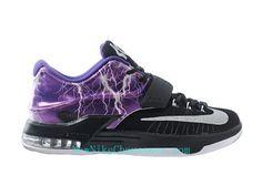 Nike KD 7 iD - Chaussure De Basket-ball pour Homme Pas Cher Noir Pourpre