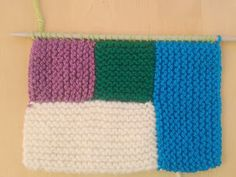Apuros de una tejedora compulsiva: Tutorial: Hacer un Log Cabin de punto Knitting Stitches, Knitting Patterns, Knitted Blankets, Knit Crochet, Diy And Crafts, Quilts, Blog, Amelia, How To Knit